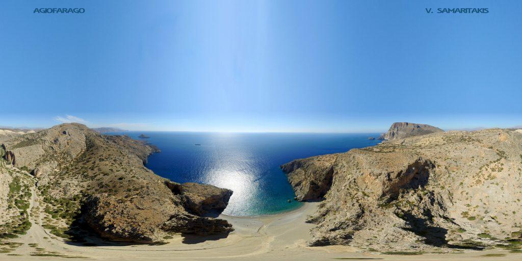 Πανοραμική Εικόνα από Drone Αγιοφάραγγο Ηρακλειο Κρήτης
